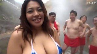 Exotic Japanese chick Mitsuki An in Amazing Handjobs, Lingerie JAV movie