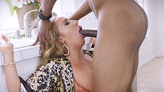 Alluring mature wants the black snake in her tight pussy
