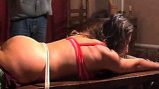 Kinky amateur babe gets her wonderful ass spanked hard