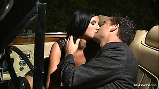 Smoking Hot Brunette Renata Black Fucked In a Covertible Car