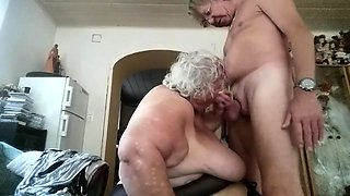 Fat amateur granny with huge boobs gets plowed doggystyle