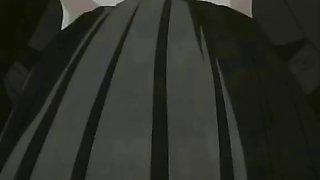 Hentai schoolgirl is drilled in the hallway