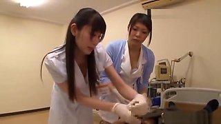 Sexy nurse shows her exquisite dick pleasuring skills