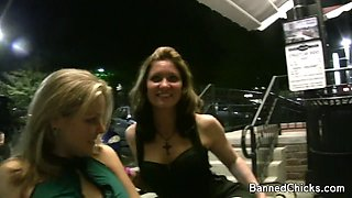 Party girls out of control in this amateur footage
