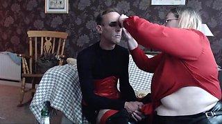 BBW mistress transforms and fucks CD slave