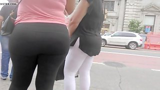 bubble booty latina at bus stop