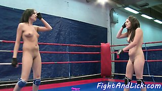 Euro dyke queens a babe after wrestling