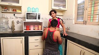 Anjali Aunty Romance With Husband in Kitchen