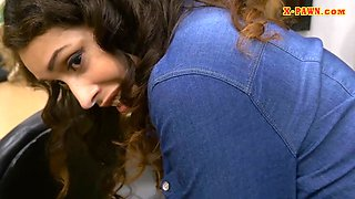 Sexy brunette woman nailed by pawn dude in his office
