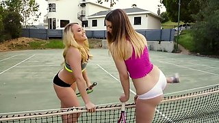 lesbian babes aj applegate and stella cox are taken! part 1