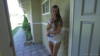Cute girl Tara Ashley gets brutally pile driven on the first date