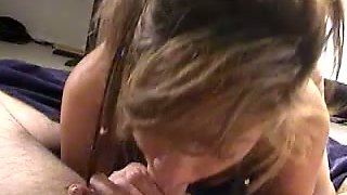 Just ordinary housewife seeks for semen and gives a really good blowjob