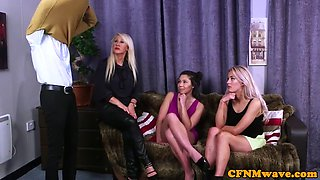 young cfnm babes wanking small dick