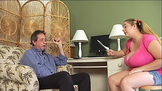 Ugly girl gives teacher handjob Big natural tits