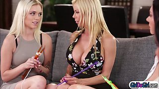 Jenna and Alex in foursome with stepmoms
