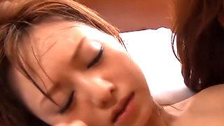 Akiho Yoshizawa and Yuma Asami are having a sleep over with their boy