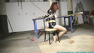 ashley heroine tied