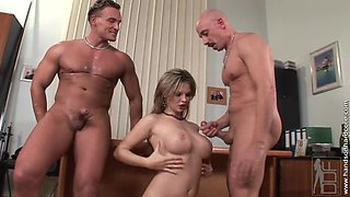 Alluring blonde Tarra White being filled with jizz