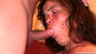 Horny midget granny gives a head before getting pounded bad from behind