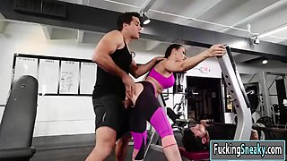 horny girlfriend rachel starr getting fucked in the gym