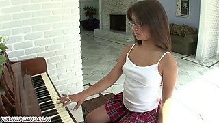 Elder brother fucks his slutty sister Jynx Maze after school