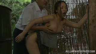 Juicy Asian Brunette Goes Hardcore Outdoors In A Dirty Story
