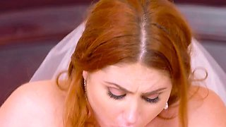 Curvy Bride Lennox Luxe Gets Fucked And Facialized