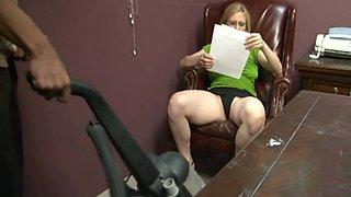 Blond boss lady