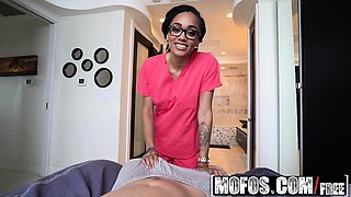 Mofos - Ebony Sex Tapes - Big Booty Nurse Hea