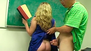 Student fucked her teacher really hard in her wet pussy