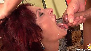 Redhead MILF Wanda anal fucked