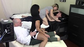 Step Mom humps son while step father humps stepdaughter (Family Taboo)