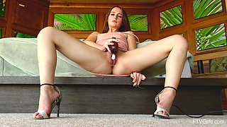 Gorgeous chick Danni likes to masturbate with toys more than anything