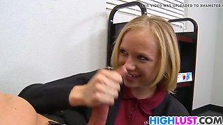 cute schoolgirl tracey sweet gets banged