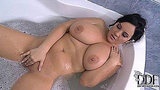 Roxana Soapy Wet Bath, huge tits babe
