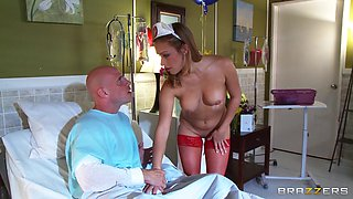 Nurse Soaps Her Breasts