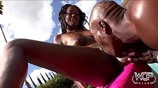 hydie waters gets her big ebony butt plowed by sturdy black cock