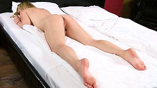 Naked virgin blonde pleasing little pussy