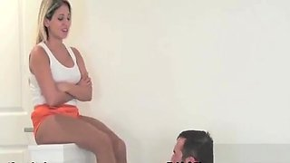 Glamour Playgirl Has Serf Lick Shoes And Punishes Hard