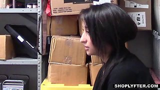 teen shoplifter does what the officers wants