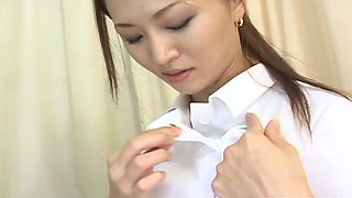 Hot and lascivious Japanese nurse is getting nasty with her patient