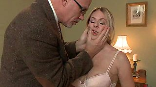 Blonde With Big Boobs Is Tied Up & Forced To Take Cock