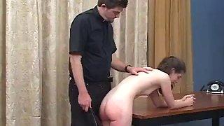 Naughty girl spanked