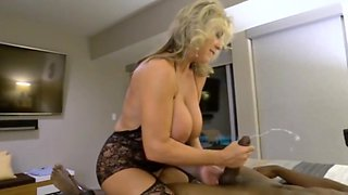 Busty wife fucks junior bbc