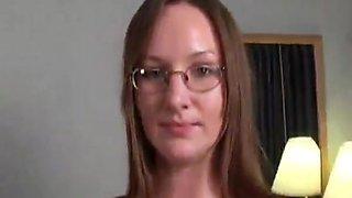 college girl in glasses sucks