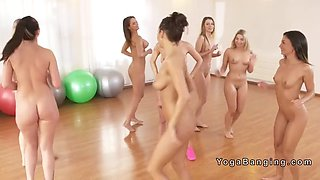 naked babes had lesbian fitness class