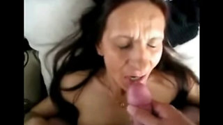 Mature granny facials compilation