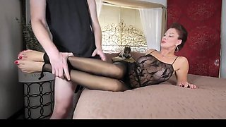Mom in stockings