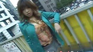 Asian Blowjob and Facial on Public Bus