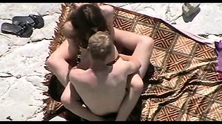 Lustful brunette with a sweet ass rides a cock on the beach